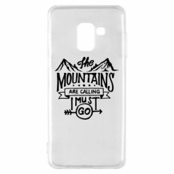 Чохол для Samsung A8 2018 The mountains are calling must go