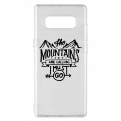 Чохол для Samsung Note 8 The mountains are calling must go