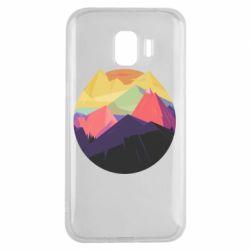 Чехол для Samsung J2 2018 The mountains Art