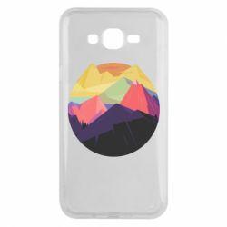 Чехол для Samsung J7 2015 The mountains Art