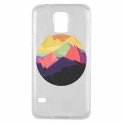 Чехол для Samsung S5 The mountains Art