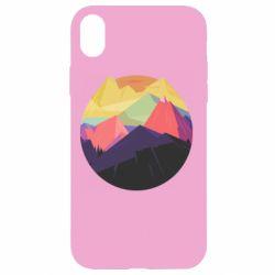 Чехол для iPhone XR The mountains Art