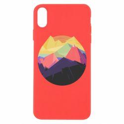 Чехол для iPhone Xs Max The mountains Art