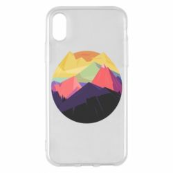 Чехол для iPhone X/Xs The mountains Art
