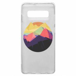 Чехол для Samsung S10+ The mountains Art