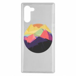 Чехол для Samsung Note 10 The mountains Art