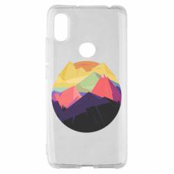 Чехол для Xiaomi Redmi S2 The mountains Art