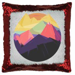 Подушка-хамелеон The mountains Art