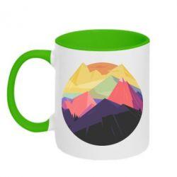 Кружка двухцветная The mountains Art