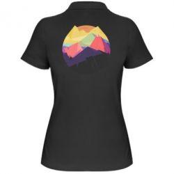 Женская футболка поло The mountains Art