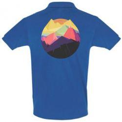 Мужская футболка поло The mountains Art