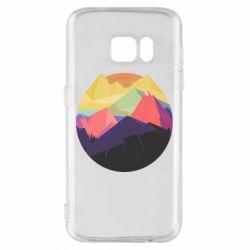 Чехол для Samsung S7 The mountains Art