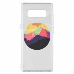 Чехол для Samsung Note 8 The mountains Art