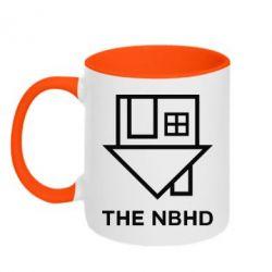Кружка двухцветная 320ml THE NBHD Logo