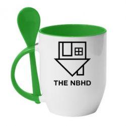 Кружка с керамической ложкой THE NBHD Logo