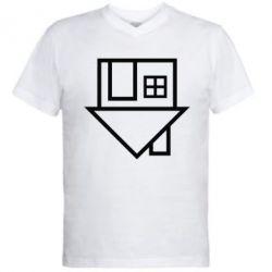 Мужская футболка  с V-образным вырезом The Neighbourhood Logotype