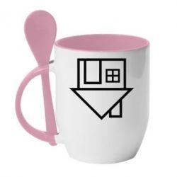 Кружка с керамической ложкой The Neighbourhood Logotype