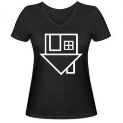 Женская футболка с V-образным вырезом The Neighbourhood Logotype