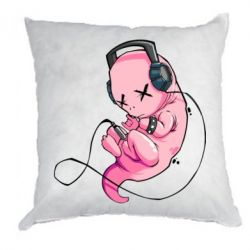 Подушка The newborn listens to music