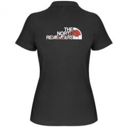 Женская футболка поло The north remember
