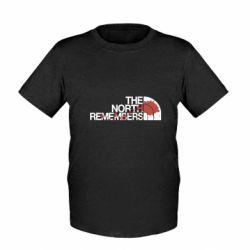 Детская футболка The north remember