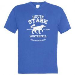 Мужская футболка  с V-образным вырезом The North Remembers - House Stark - FatLine
