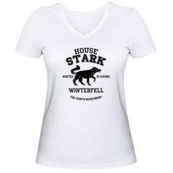Женская футболка с V-образным вырезом The North Remembers - House Stark - FatLine