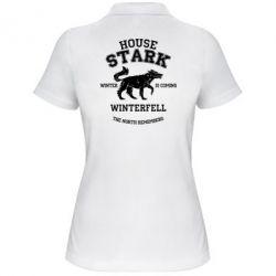 Женская футболка поло The North Remembers - House Stark - FatLine