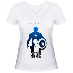 Женская футболка с V-образным вырезом The Patriot - FatLine