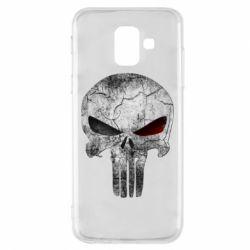 Купить MARVEL, Чехол для Samsung A6 2018 The Punisher Logo, FatLine