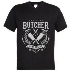 Чоловіча футболка з V-подібним вирізом The Real Butcher