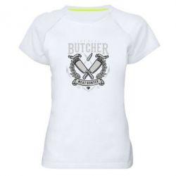 Жіноча спортивна футболка The Real Butcher