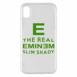 Чехол для iPhone X The Real Slim Shady - FatLine