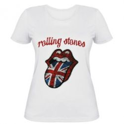 Женская футболка The Rolling Stones British flag