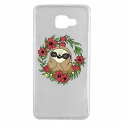Чехол для Samsung A7 2016 The slothful in flowers