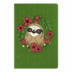 Блокнот А5 The slothful in flowers