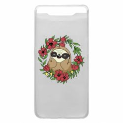 Чехол для Samsung A80 The slothful in flowers