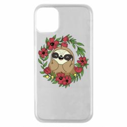 Чехол для iPhone 11 Pro The slothful in flowers