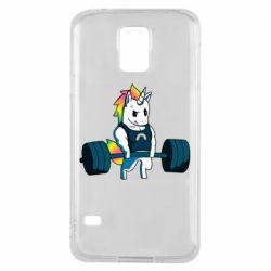 Чохол для Samsung S5 The unicorn is rocking