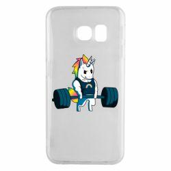 Чохол для Samsung S6 EDGE The unicorn is rocking