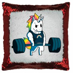 Подушка-хамелеон The unicorn is rocking
