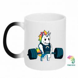 Кружка-хамелеон The unicorn is rocking