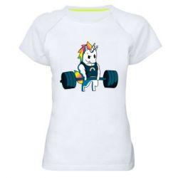 Жіноча спортивна футболка The unicorn is rocking