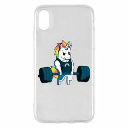 Чохол для iPhone X/Xs The unicorn is rocking