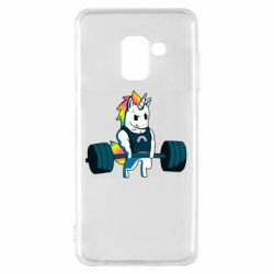 Чохол для Samsung A8 2018 The unicorn is rocking