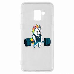 Чохол для Samsung A8+ 2018 The unicorn is rocking