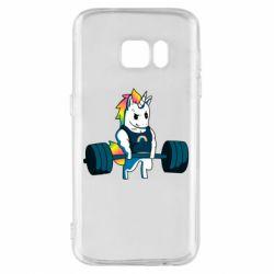 Чохол для Samsung S7 The unicorn is rocking