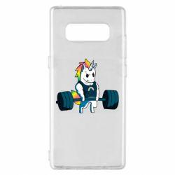 Чохол для Samsung Note 8 The unicorn is rocking