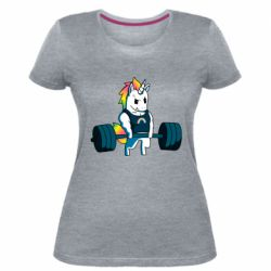 Жіноча стрейчева футболка The unicorn is rocking