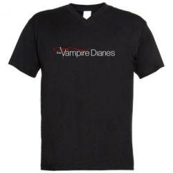 Мужская футболка  с V-образным вырезом The Vampire Diaries Small - FatLine